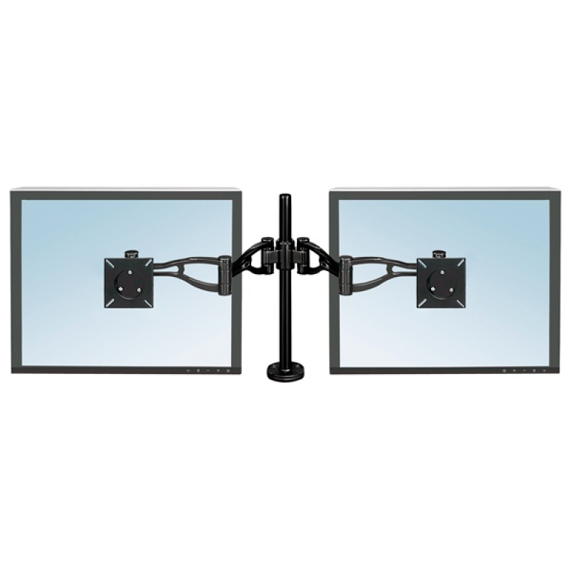 Fellowes DEPTH ADJUSTABLE DUAL MONITOR ARMS (CRC80417)